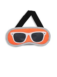 Flight 001 Sunglasses Print Eye Mask Orange