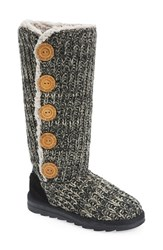 Women's Muk Luks 'Malena' Sweater Knit Boot Soft Black