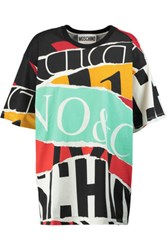 Moschino Oversized Printed Cotton Pique T Shirt Multi