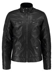 Petrol Industries Faux Leather Jacket Black