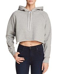 Frame Track Cropped Hooded Sweatshirt Faded Summer Red