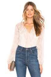 Line And Dot Dusk Ruffle Blouse Blush