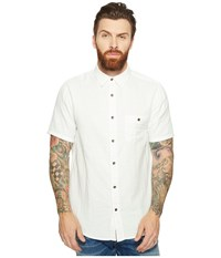 Threads For Thought Double Face Short Sleeve Gauze Woven White Men's Clothing