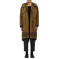 Robert Geller Men's Vincent Cotton Parka And Removable Lining Tan