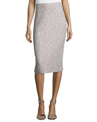 St. John Chevron Knit Pencil Skirt Blue Pattern