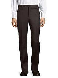 Saks Fifth Avenue Made In Italy Micronosphere Wool Trousers Charcoal
