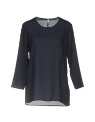Emma And Gaia Blouses Dark Blue