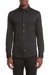Armani Collezioni Neat Check Woven Sport Shirt Checked Black