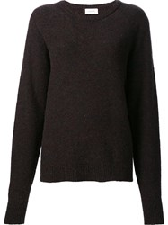 Christophe Lemaire Crew Neck Jumper Black