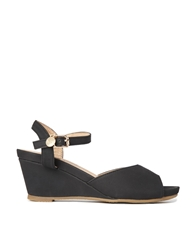 Xti Strap Wedge Sandals Black