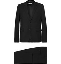 Saint Laurent Black Slim Fit Virgin Wool Gabardine Suit