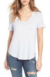 Women's Bp. Washed V Neck Tee Blue Feather