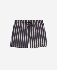 The Kooples Striped Navy Blue Swim Shorts