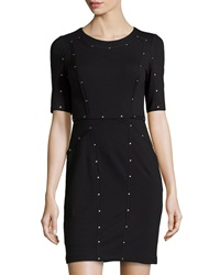 Ivy And Blu Jersey Studded Half Sleeve Dress Black