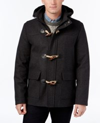 Club Room Men's Hooded Toggle Coat Only At Macy's Charcoal Heather