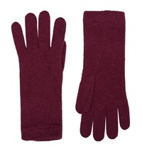 Harrods Of London Short Wristwarmer Gloves Female Red