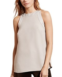 Ralph Lauren Trapunto Stitch Sleeveless Top Grey Fog