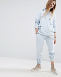 Criminal Damage Joggers With Distressing Co Ord Light Blue