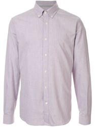 Gieves And Hawkes Button Down Shirt Purple