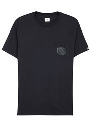 C.P. Company Navy Logo Cotton T Shirt
