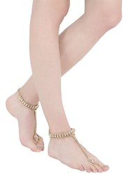 Vittorio Ceccoli Vipers Gold Plated Toe Ring Anklets