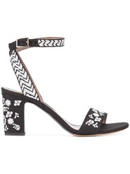 Tabitha Simmons Patterned Sandals Black