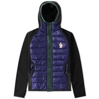 Moncler Grenoble Down Front Hooded Jacket Black