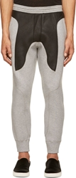 Neil Barrett Grey Leather And Neoprene Lounge Pants
