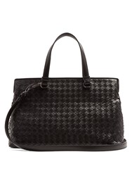 Bottega Veneta Intrecciato Leather Shoulder Bag Black