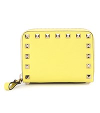 Valentino Garavani Rockstud Leather Wallet Yellow