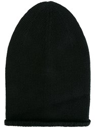 Kristensen Du Nord Long Knitted Beanie Black
