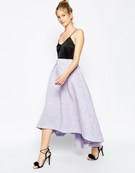 Asos Ultimate Prom Skirt In Jacquard Lilac Purple