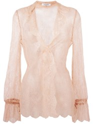 Valentino Lace Blouse Nude Neutrals