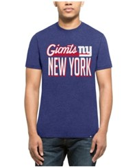 47 Brand '47 Men's New York Giants Script Club T Shirt Heather Blue