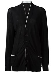 Ann Demeulemeester Ribbon Detail Cardigan Black