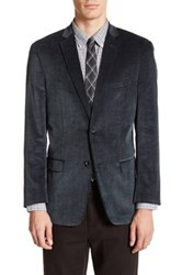 U.S. Polo Assn. Grey Corduroy Two Button Notch Lapel Jacket Gray