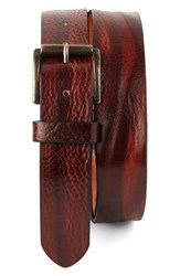 Men's Big And Tall Tommy Bahama Leather Belt Chili