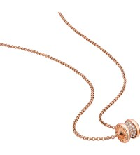 Bulgari Bvlgari B.Zero1 Mini 18Kt Pink Gold And Diamond Necklace