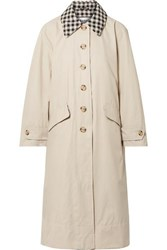 Barbour Alexachung Glenda Cotton Blend Coat Off White