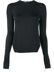 Y 3 Fine Knit Long Sleeve Top Black