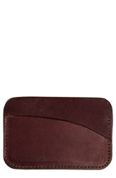 United By Blue Leather Card Case Brown Dark Brown
