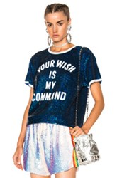 Ashish Your Wish Is My Command T Shirt In Blue White Blue White