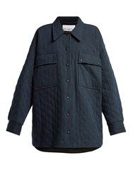 Raey Oversize Quilted Denim Jacket Indigo