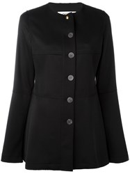 Loewe Flared Sleeve Button Jacket Women Spandex Elastane Virgin Wool 40 Black