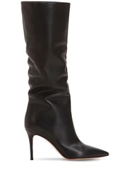 Gianvito Rossi 85Mm Slouchy Nappa Leather Boots Black