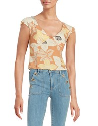 Free People Into The Groove Crop Top Orange