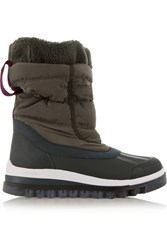 Adidas By Stella Mccartney Weekender Hiker Shell And Rubber Ski Boots Gray