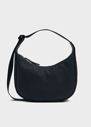 Baggu Small Crescent Bag In Black Leather