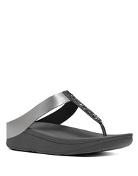 Fitflop Fino Toe Tm Faux Leather Thong Sandals