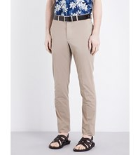 Officine Generale Regular Fit Tapered Pure Cotton Chinos Stone
